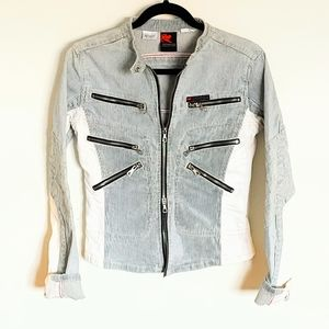 Coolest Cropped Jean Jacket Parasuco S Wom…